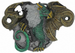 Dragon's Egg Belt Buckle with display stand. Code LB4
